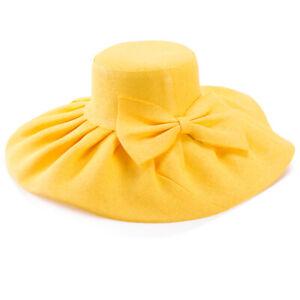Womens Straw Kentucky Derby Wide Brim Wedding Church Formal Sun Beach Hat A047