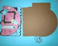 """Bare Chipboard 8 1/2"""" x 5 1/2"""" Mix & Match Mini Album Scrapbook - 6 Pgs."""