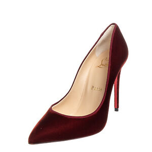 RRP €620 CHRISTIAN LOUBOUTIN Velour Court Shoes Size 36 UK 3 US 6 Made in Italy