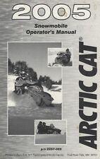 2005 ARCTIC CAT SNOWMOBILE P/N 2257-085 OPERATOR'S OWNERS MANUAL (670)