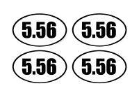 5.56 Decal Sticker Oval Euro Vinyl Bumper Sticker 2nd Amendment AR-15 AR15
