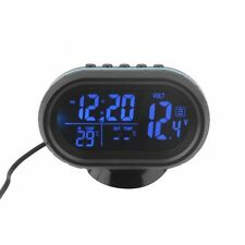 Black Screen Car Digital LCD Monitor Thermometer Voltage Alarm Clock 12V-24V H5