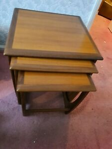 Mid Century G Plan Quadrille Teak Nest of Tables Retro Vintage Danish