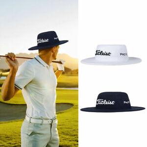 BUCKET HAT- Titleist Tour Aussie Stretch UV Wide Brim Golf Hat White/Blue