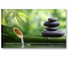 Bambu zen 2 - quadro 90x45 cm stampa su tela quadri moderni per casa bagno spa