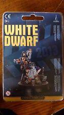 WH40K edición limitada de suscripción enana blanca 2013 grombrindal el director MIB