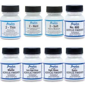 Angelus Acrylic Leather Paint Additives & Finisher's 1oz 70+ Colours