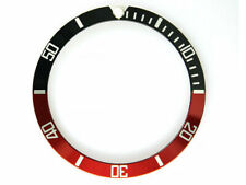 BEZEL INSERT FOR ROLEX SUBMARINER RED BLACK (fits some vostok amphibia bezels)