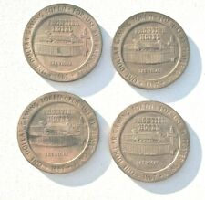 RARE c.1967 LOT 4 Frontier Casino Hotel ONE DOLLAR Game Slot Tokens Las Vegas NV