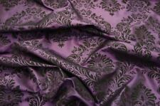 TAFFETA DAMASK VELVET FLOCKED PLUM DRESS HOME DECOR APPAREL CURTAINS BY THE YARD