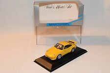 . MINICHAMPS PORSCHE 911 CARRERA RS 1995 YELLOW MINT BOXED RARE SELTEN RARO