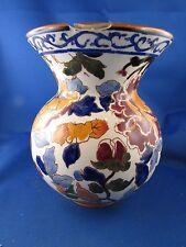 ancien vase faience de gien modele pivoines pivoine rouge