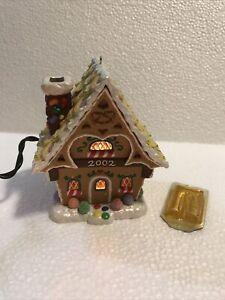 2002 Hallmark GINGERBREAD COTTAGE Ornament Magic Light & Fragrance House No Box