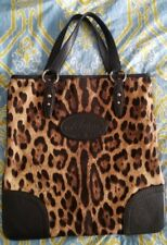 f69c1e42c7 Dolce   Gabbana Leopard Print Canvas Animal Cheetah Print Bag Handbag Purse