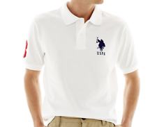 U.S. POLO ASSN. EMBROIDERED SHORT SLEEVE POLO WHITE SHIRT