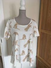 Dorothy Perkins Size 18 Leopard T-Shirt