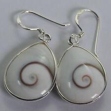 Drop of Water Dangle Thailand Shiva Eye Earrings Sterling Silver 1010