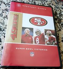 SAN FRANCISCO 49ers NFL 5 Greatest Games Super Bowl Victories NEW VERY RARE DVD