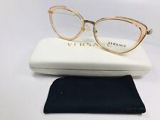 e6931d6df5 New Versace MOD 1244 1406 Transparent Peach   Gold Eyeglasses 53mm with Case