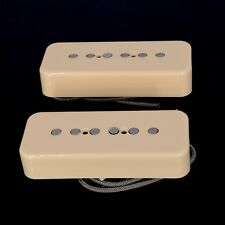 Lindy Fralin P90 Soapbar Pickups ALNICO Pole Pieces CREAM COVERS with -10% Neck