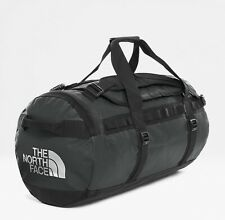 The North Face Black Base Camp Duffel Bag With Silver North Face Size Medium NEW