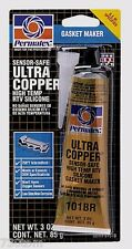 PERMATEX 81878 ULTRA COPPER SENSOR SAFE MAX TEMP RTV SILICONE GASKET MAKER 3 oz