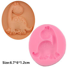 2 Pcs Packed Dinosaur Silicone Cake Mould Fondant Chocolate Decorating Mold