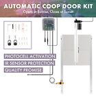 66W Coop Door Opener for Chickens Ducks More with Photocell IR Sensor 2 Remotes