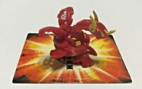 Bakugan Neo Dragonoid Red Pyrus New Vestroia 630G & 2008 Fire Pit Gate Card