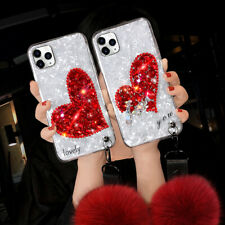 For Samsung S21 S20 S10 S9 Note20 10 9 8 Glitter Bling Marble Diamond Case Cover