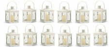"White Candle Lantern  4 3/4"" tall (Case of Twelve) Wedding Supplies 37440"