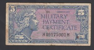 United States of America 5 Cents 1964  Fine P. M 50  Banknote, Circulated