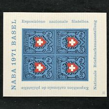 Switzerland SC #530 Mint H Souvenir Sheet 1971