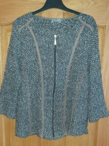 Per Una Ladies grey zip up Cardigan Size Large