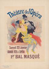 JULES CHERET Théâtre de l'Opera Bal Masque, Art Nouveau Belle Epoque Poster