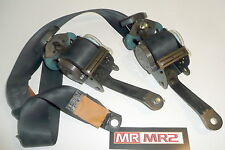 Toyota MR2 MK2 UK Black Drivers & Passenger Side Seat Belts  - Mr MR2 Used Parts