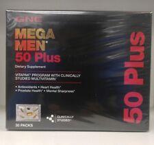 GNC Mega Men 50 Plus Vitapak - 30 packs - Free Shipping.