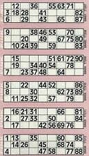 6000 Bingo Tickets 6 to View Flyers Singles Quickies