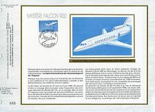 FEUILLET CEF / DOCUMENT PHILATELIQUE / MYSTERE FALCON 900 LE BOURGET 1985