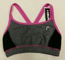 NWT New Dri Motion HEAD MEDIUM IMPACT Pink Grey SPORT BRA SIZE S Small
