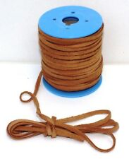 Flat Vintage Suede Cord - Natural 4 mm x 1.5 mm, Various lengths 1 m > 10 m