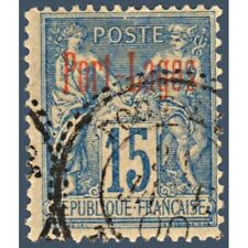 Port lagos _ 3 no postage stamp of colonies french type sage, stamped 1893