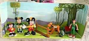 Walt Disney Marx Disneykin Play Set Mickey-Minnie-Morty-Pluto-Peter Pan