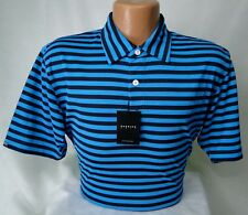 Dunning Golf Polo Shirt in Blue/Halo PGA Tour Quality MSRP $89 NWT Nice! - MED