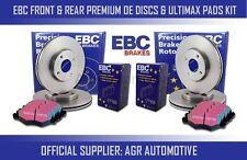 EBC FRONT + REAR DISCS AND PADS FOR AUDI A3 CABRIOLET 1.4 TURBO 2011-13