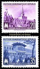 EBS East Germany DDR 1955 Leipzig Spring Fair Michel 447-448 MNH**