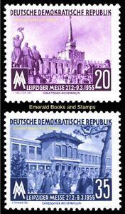 EBS East Germany DDR 1955 - Leipzig Spring Fair - USSR & PRC - Mi. 447-448 MNH**