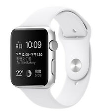 NEW Apple Smart Watch Sport 42mm Silver Aluminium Case White Sport Band iwatch