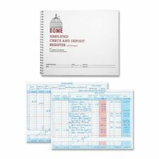 "Dome Publishing Check And Deposit Register - 50 Sheet[s] - Wire Bound - 8.50"" X"