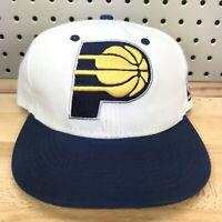 Indiana Pacers NBA Basketball Mitchell & Ness White SnapBack Hat OSFA Cap